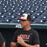 Oregon State assistant coach Pat Bailey. (Photo by Brandon McDermott)